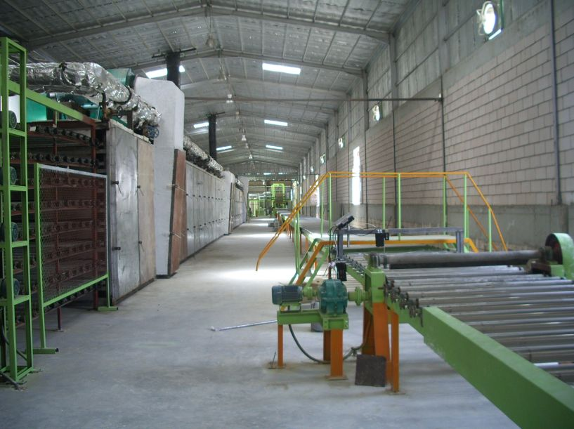 MDF board production line in Africa